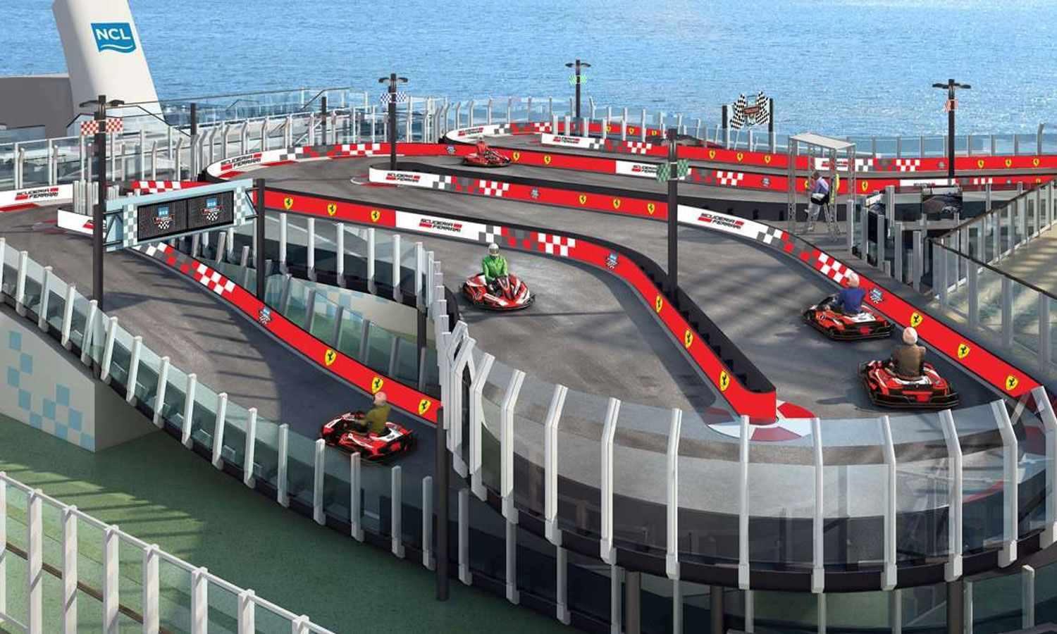 Ferrari Launches World's First Racetrack At Sea