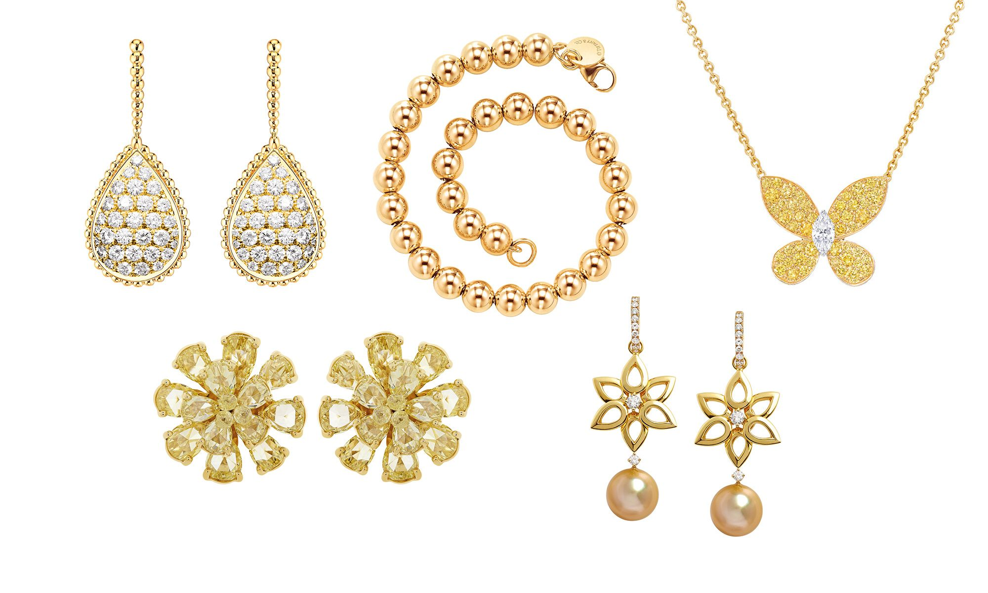 5 Pieces Of Yellow Gold Jewellery For