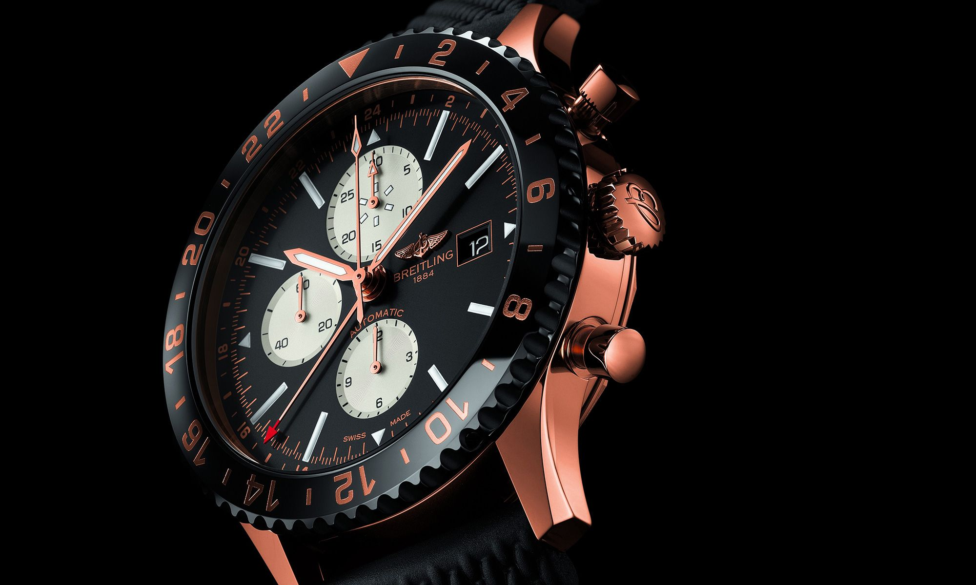 Breitling Unveils Limited-Edition Red Gold 'Chronoliner' Watch