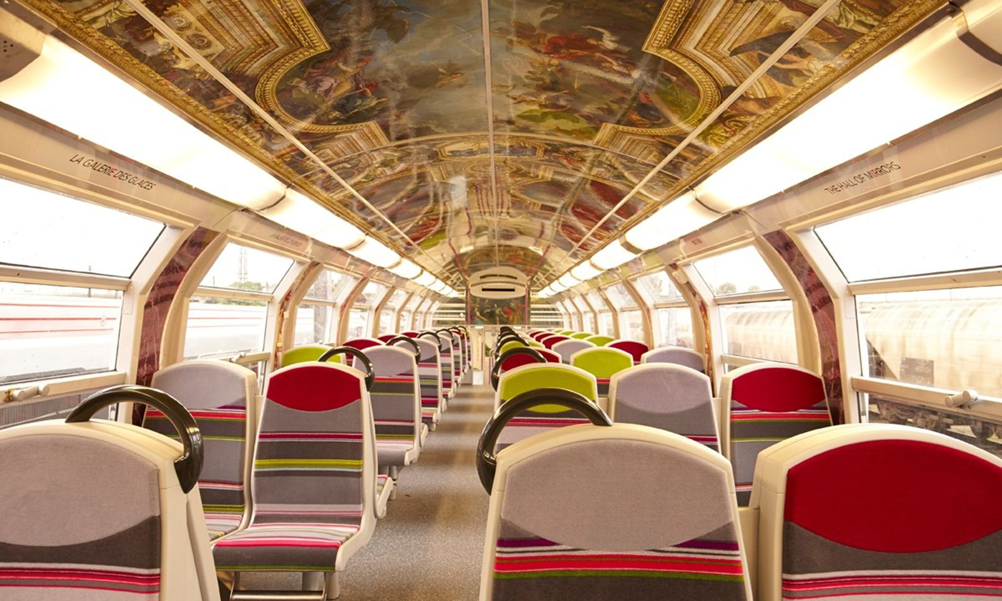 French Trains Renovated to Resemble Palace of Versailles