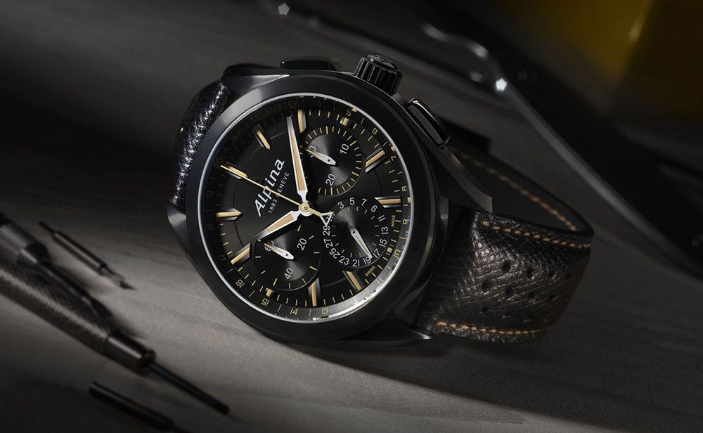 All-black 'Alpiner 4 Manufacture Flyback Chronograph' in Store For Baselworld 2016