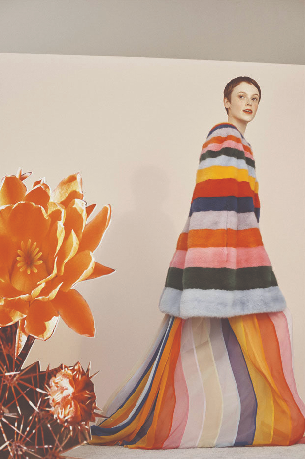"Striped gown by Carolina Herrera. Available at <a href="" https://www.farfetch.com/hk/shopping/women/carolina-herrera-one-shoulder-striped-gown-item-13141245.aspx?storeid=9982 "">Farfetch</a>"