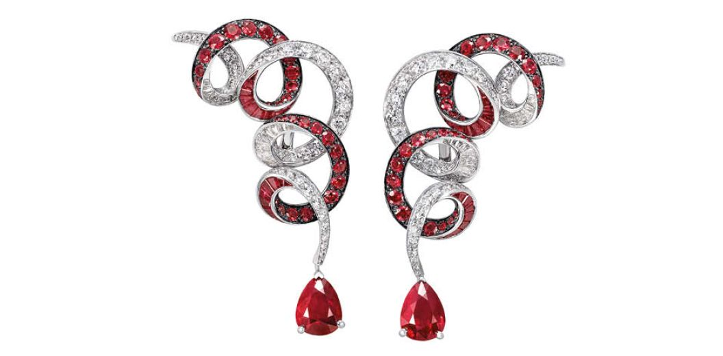Graff Earrings set with rubies and diamonds, from the Twombly collection