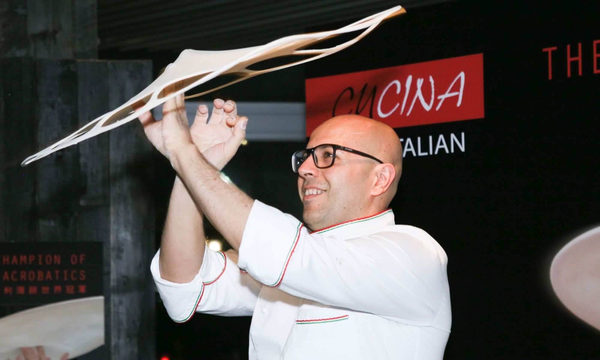 World Champion Of Pizza Acrobatics At Cucina