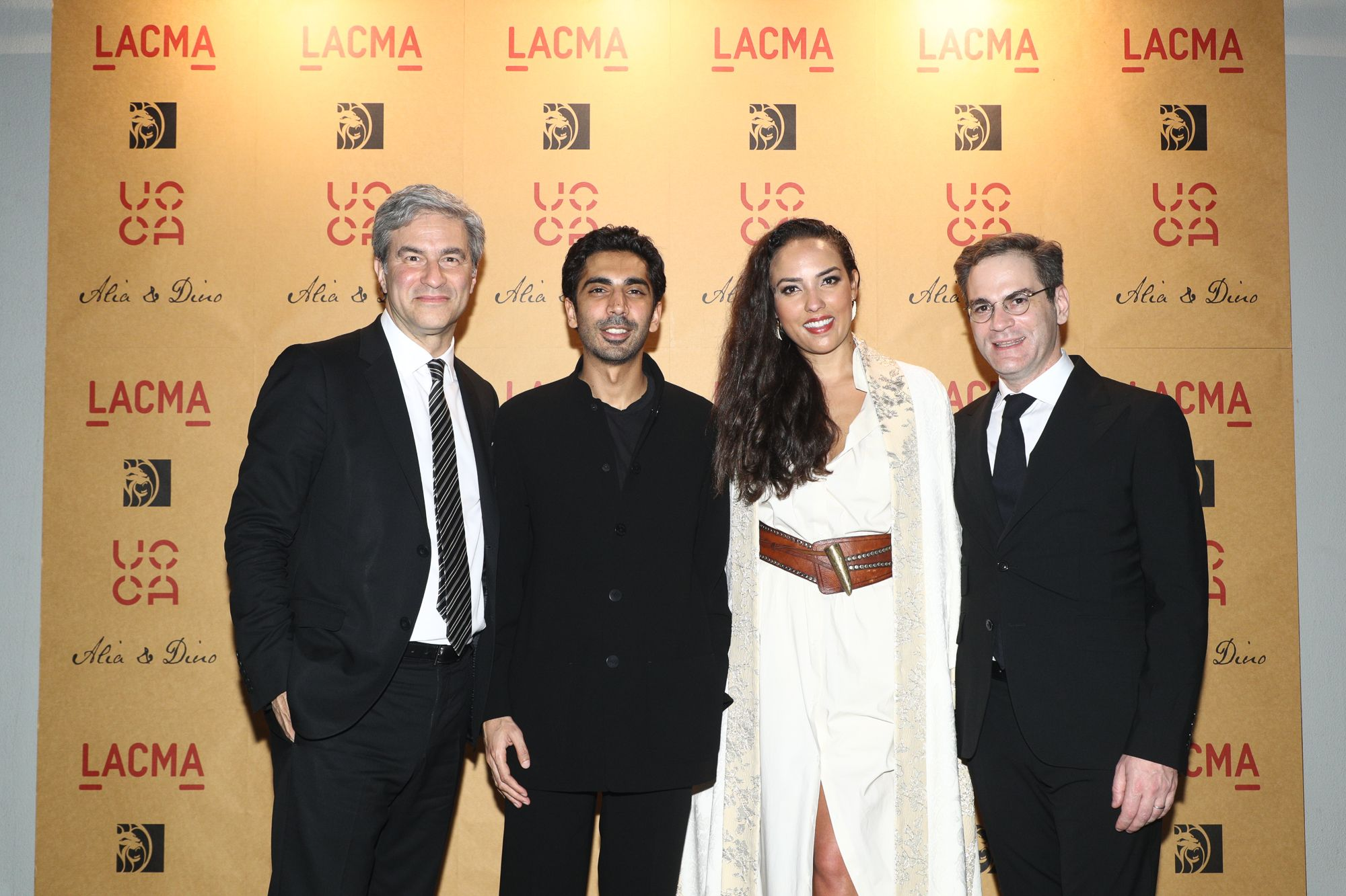 Michael Govan, Dino Sadhwani, Princess Alia Al-Senussi, Philip Tinari
