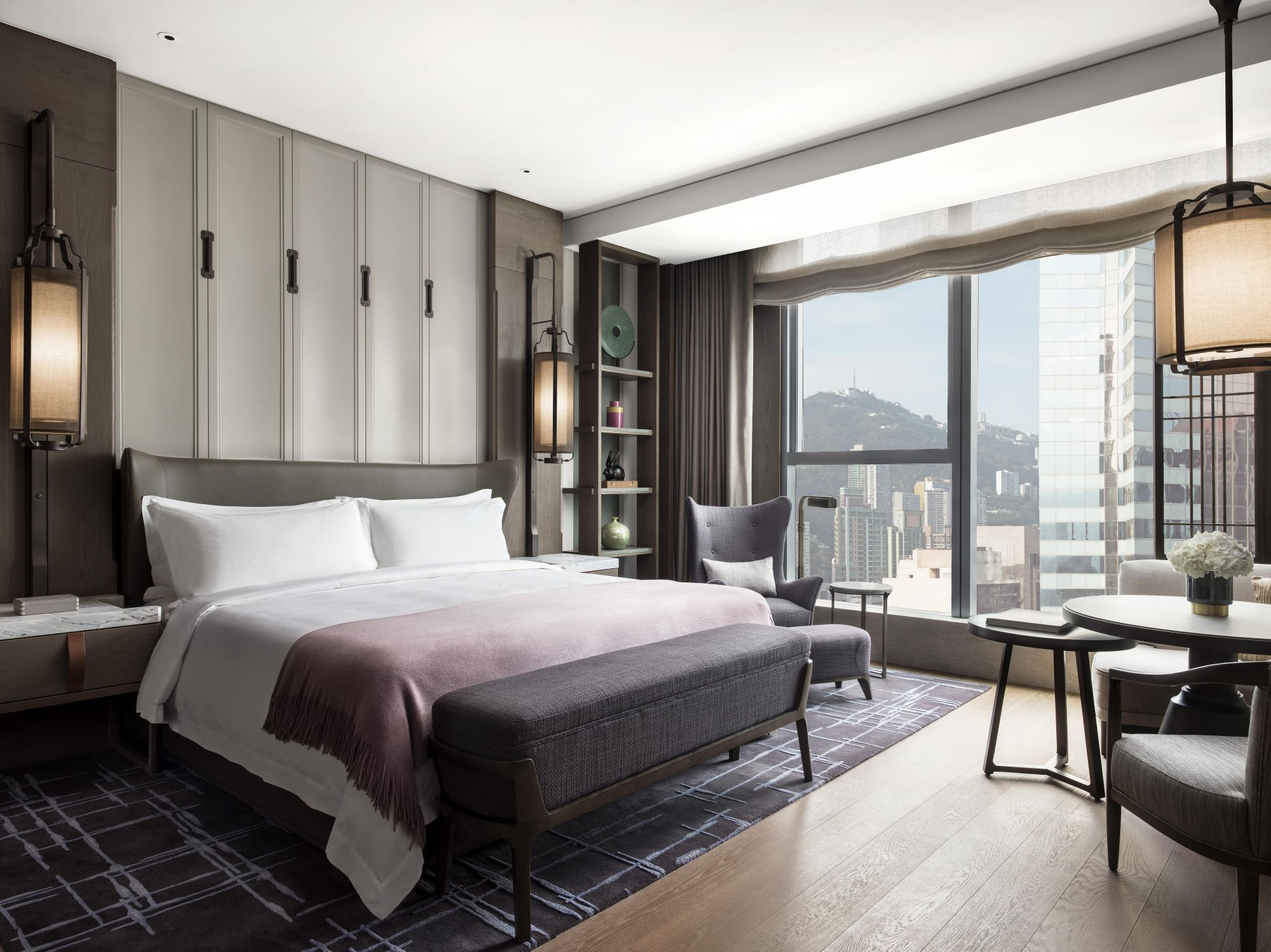 The St. Regis Hong Kong Deluxe Room With Partial Sea Views