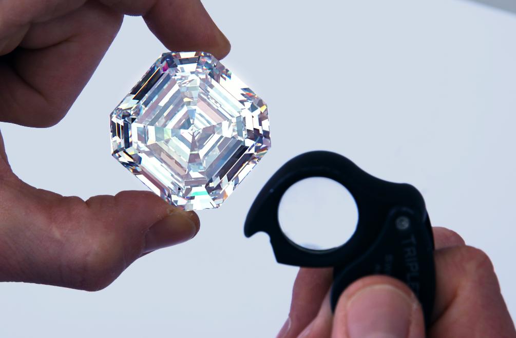 At 302.37 Carats, The Graff Lesedi La Rona Is The World's Biggest Square Emerald Cut Diamond
