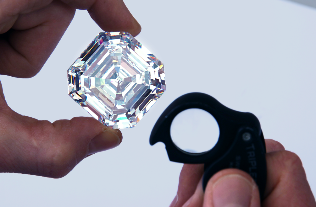 At 302.37 Carats, The Graff Lesedi La Rona Is The World's Biggest Square Emerald Cut Diamond