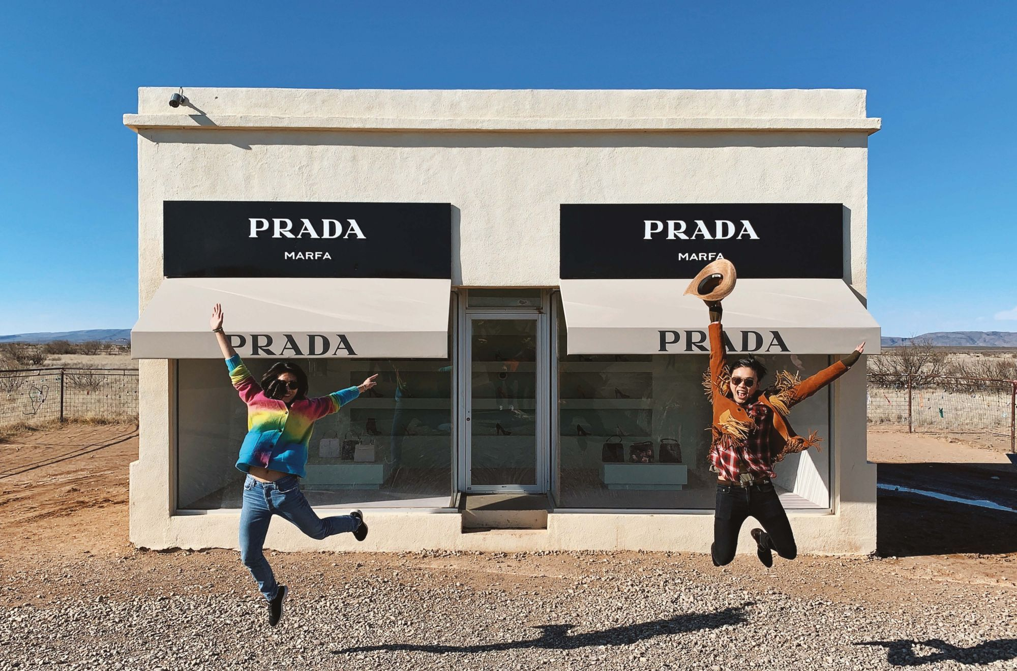 Tatler Travels: Jonathan Cheung Explores Prada's Desert Pop-Up: Prada Marfa