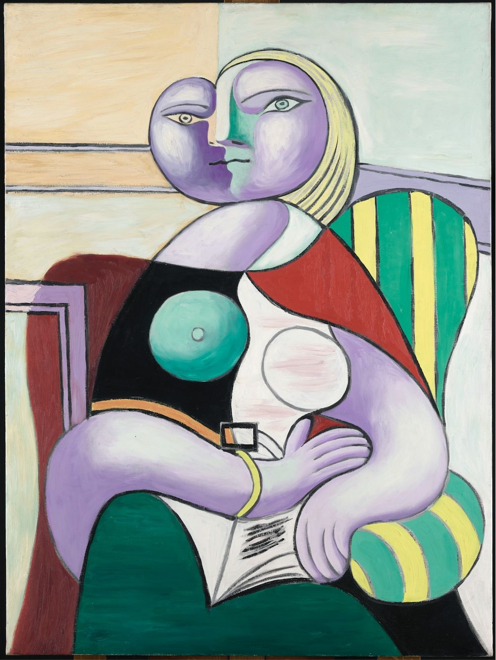 Pablo Picasso, Reading (1932). (Courtesy of Musée national Picasso-Paris. © Succession Picasso 2019)