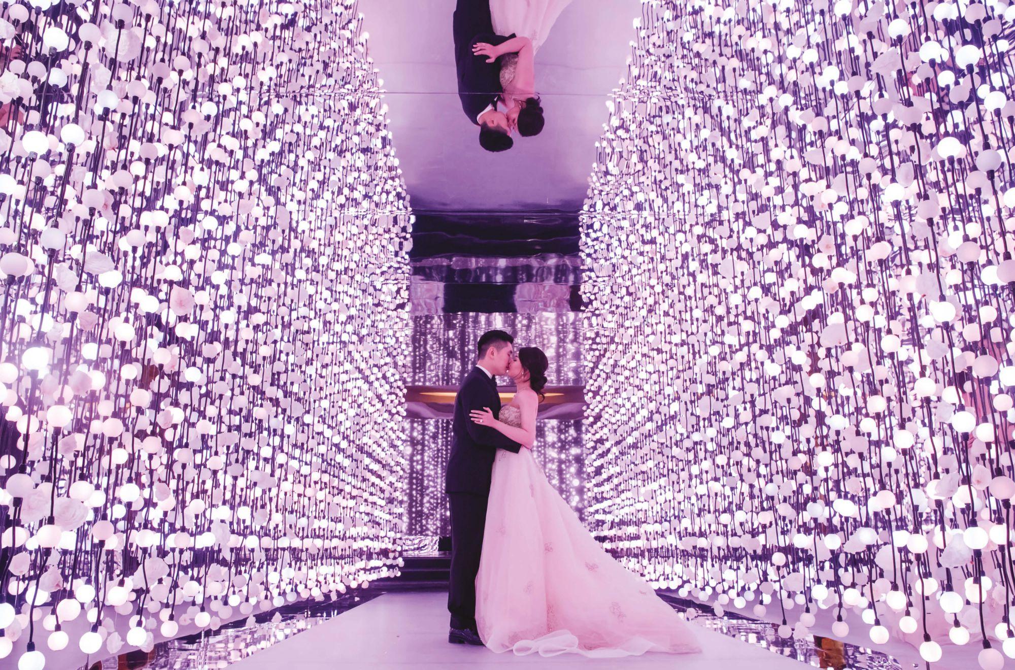 All Lit Up: The Wedding Of Karen Li And Sam Lau