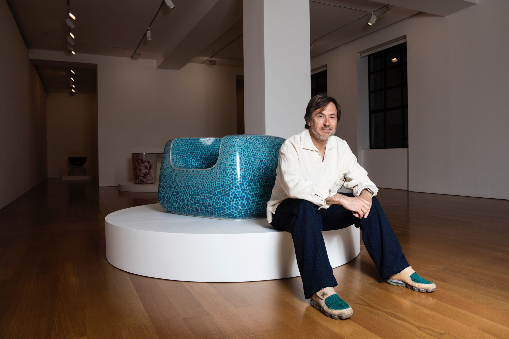 Designer Marc Newson—who is joining Jony Ive's new studio, LoveFrom—discusses his exhibition in Hong Kong