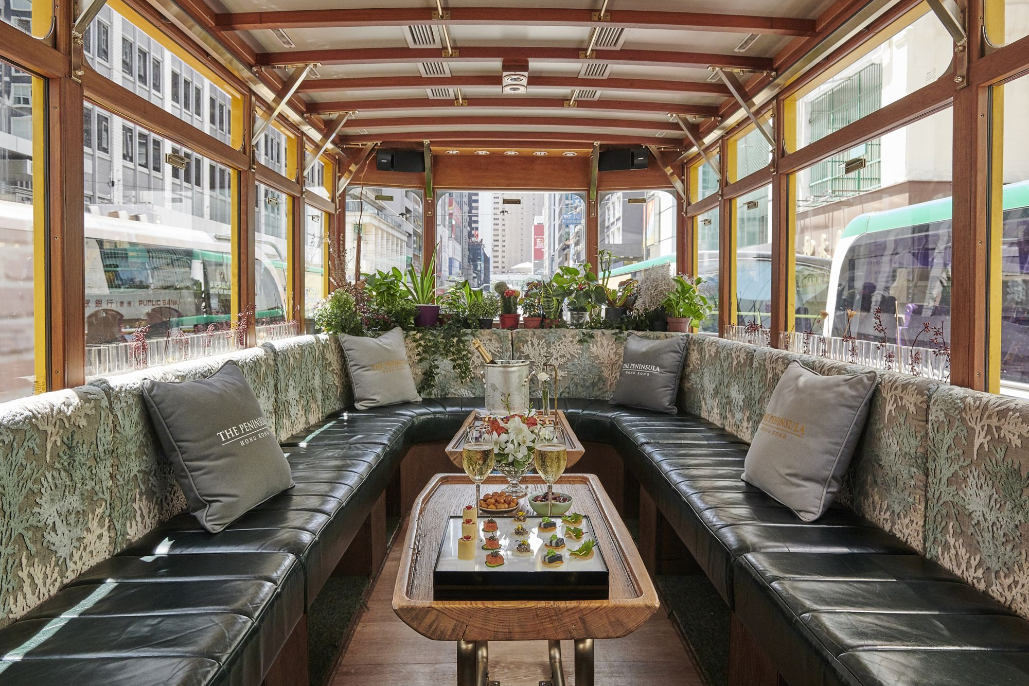 This Super Luxurious Hong Kong Tram Has A Bar, A Balcony And More