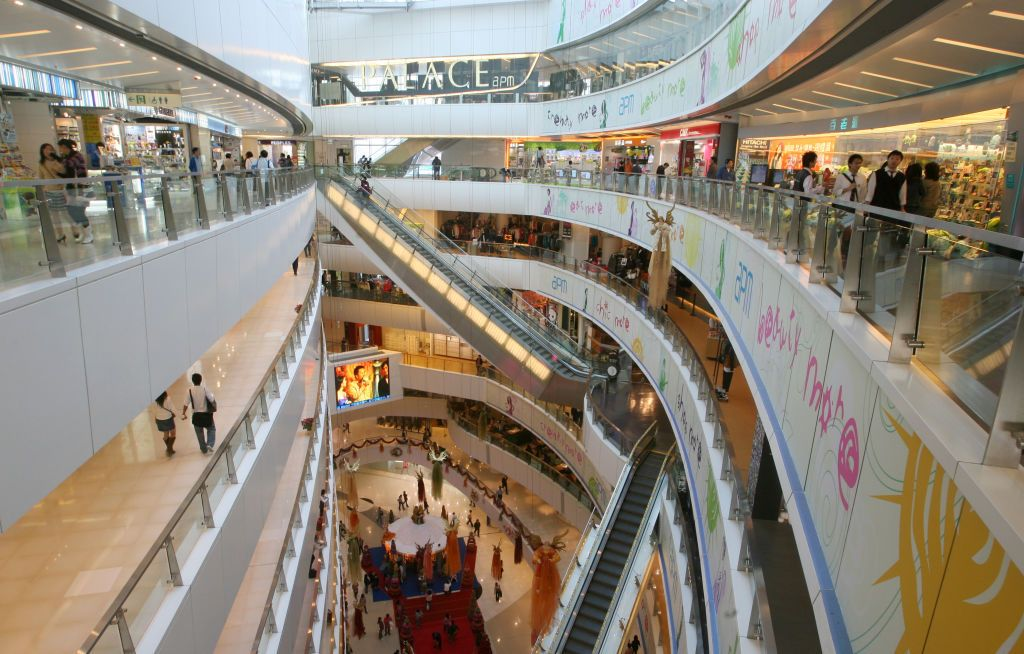 Interior designer for shopping malls. APM, Kwun Tong. 06 DECEMBER 2006 (Photo by David Wong/South China Morning Post via Getty Images)