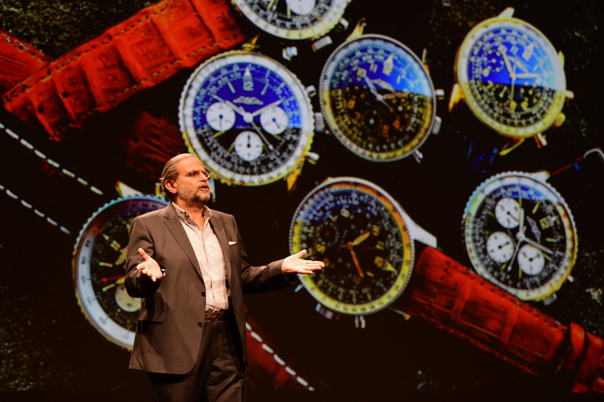 BASEL, SWITZERLAND - MARCH 21: Fred Mandelbaum during the Breitling Baselworld Summit 2019 at Dreispitzhalle on March 21, 2019 in Basel, Switzerland. (Photo by Adrian Bretscher/Getty Images for Breitling)