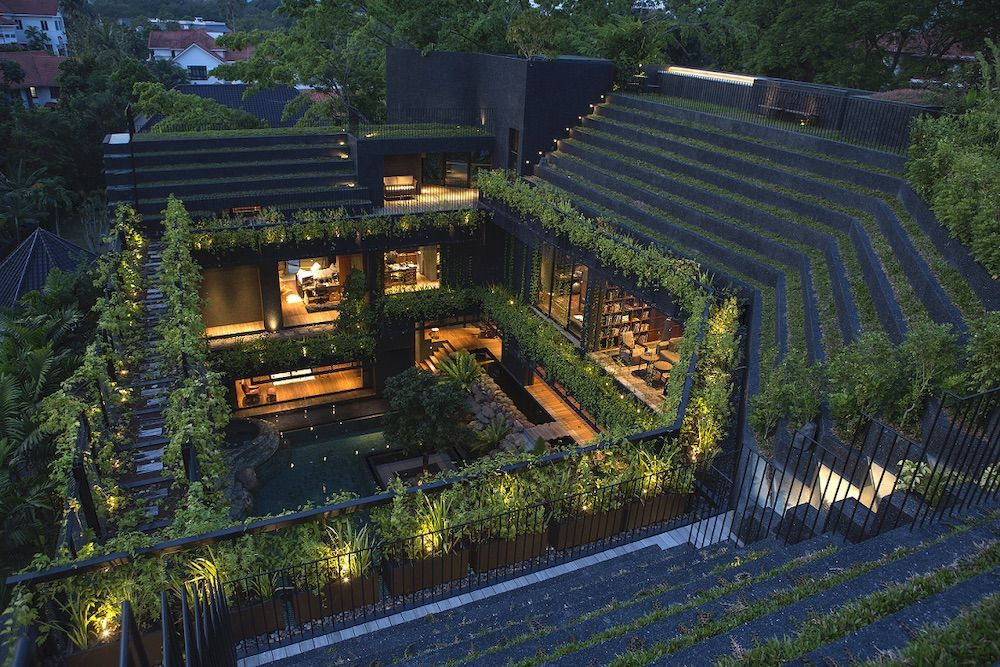 Cornwall Gardens, in Singapore, by Chang Architects. Photograph: Albert Lim (courtesy Thames & Hudson)