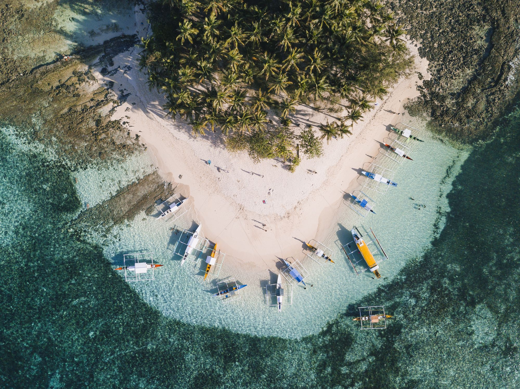 Siargao is not only the surfing capital of the Philippines but also the up and coming vacation destination for local and international tourists because of its beautiful beaches, hospitable residents, islander lifestyle and world-class resorts. This photo was taken by a DJI Mavic Pro drone at Guyam Island just a few kilometers off-shore from Cloud 9 surfing spot.