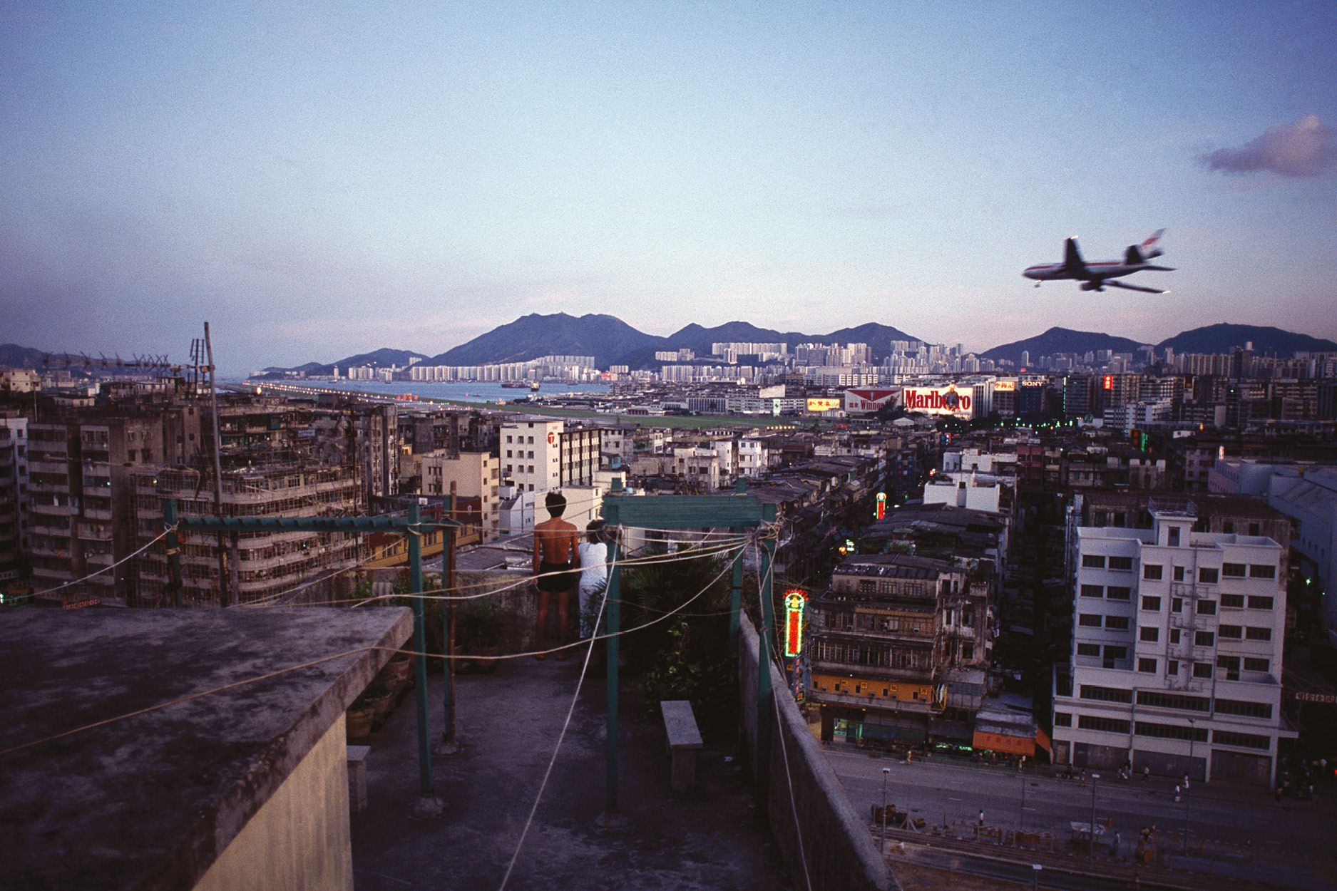 Rooftop and Plane (1989) (Photo: Courtesy of Greg Girard and Blue Lotus Gallery)