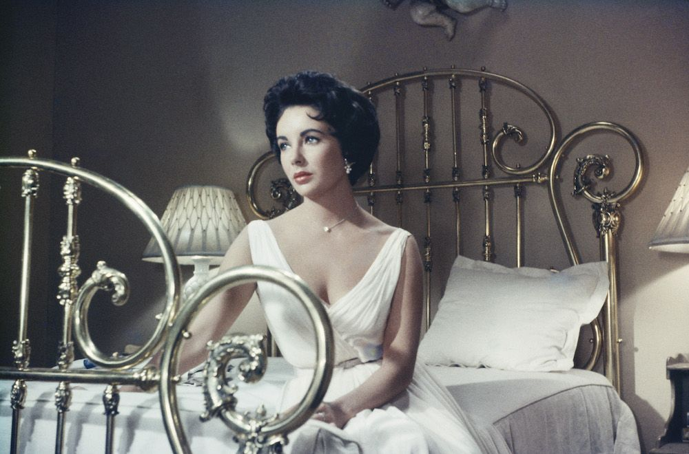Elizabeth Taylor in the MGM film, 'Cat On A Hot Tin Roof', 1958 (Photo by Archive Photos/Getty Images)