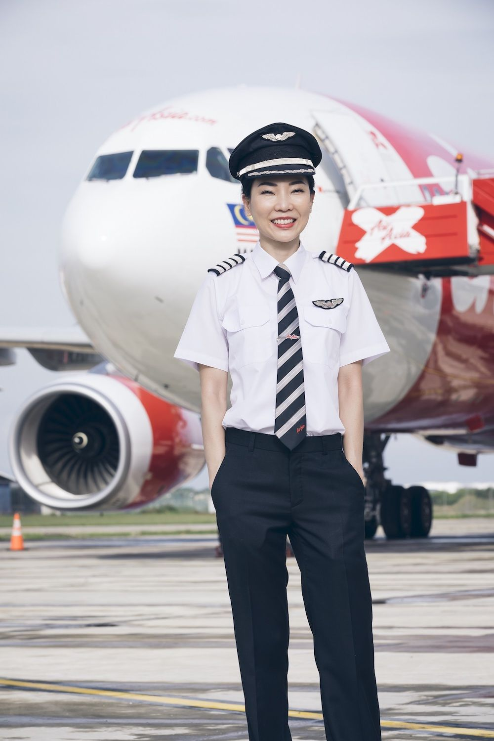 Suwapich Wongwiriyawanich is one of AirAsia's first female pilots (photo: Courtesy AirAsia)