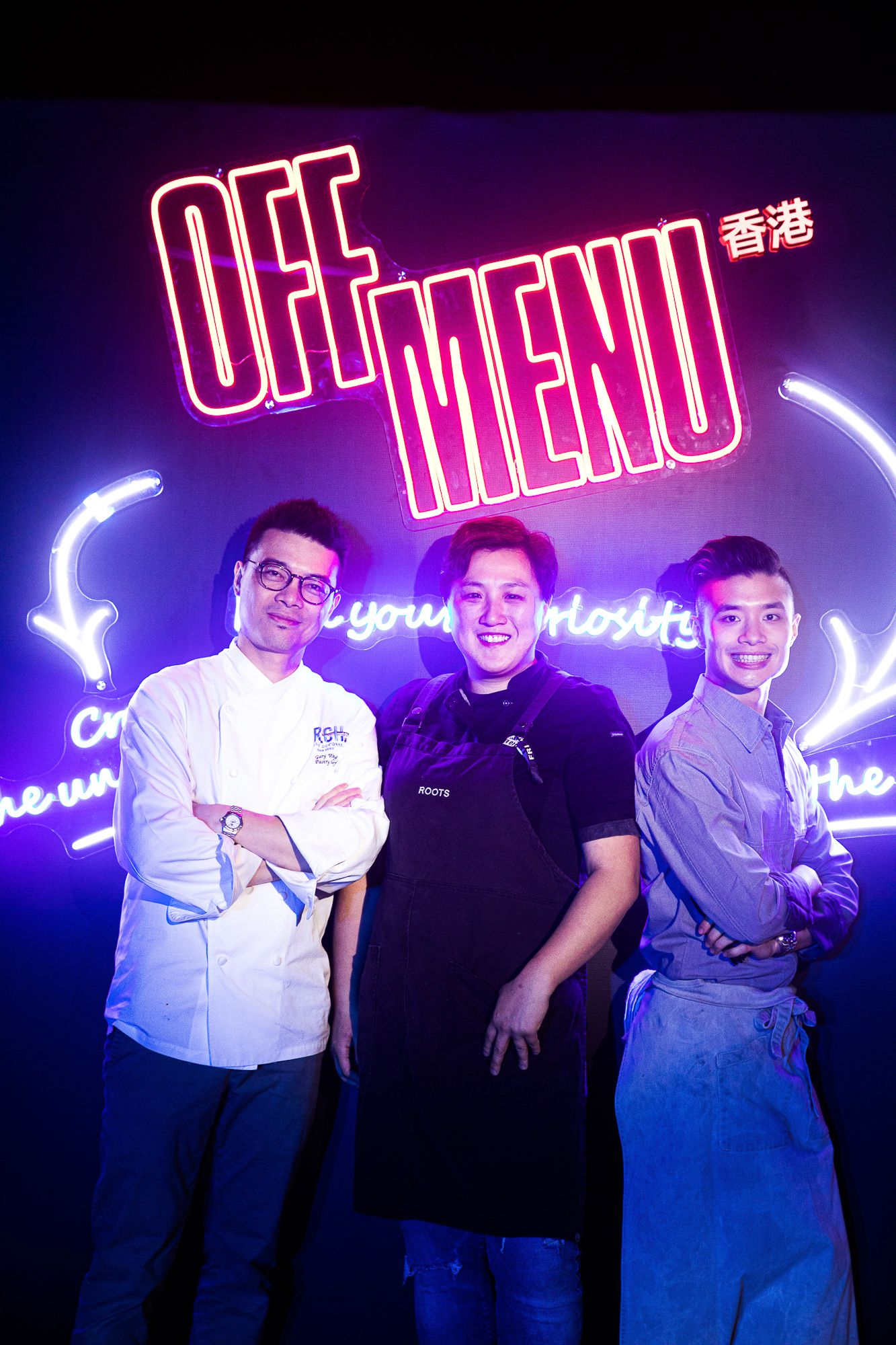 Rising star chefs Gary Wong, Stephanie Wong and Leonard Cheung