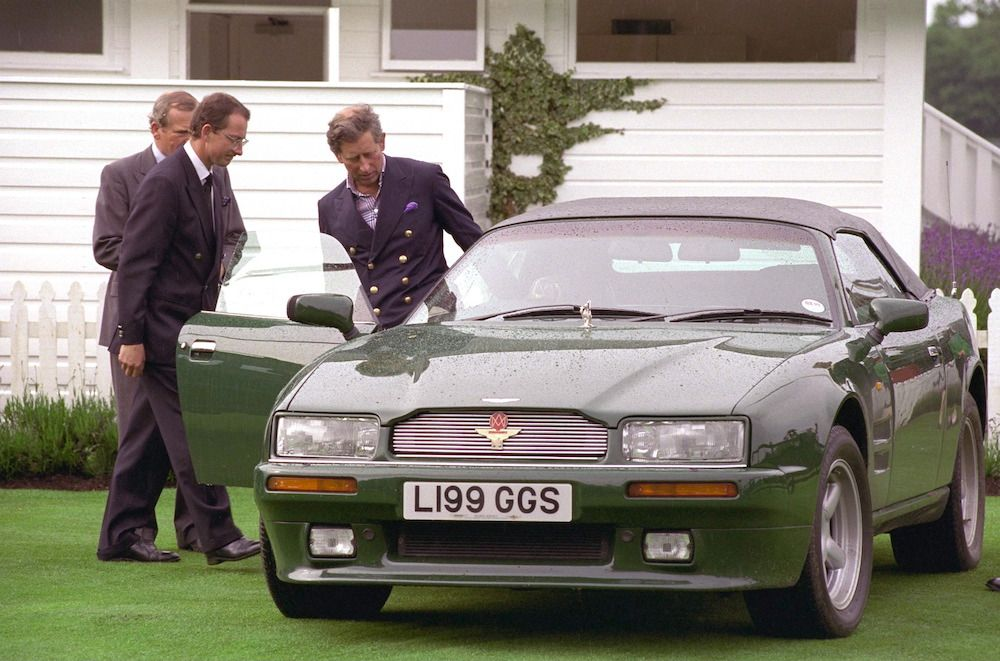 Prince Charles after Ascot leaving in his Aston Martin Volante in 1998  (Photo by Tim Graham Photo Library via Getty Images)