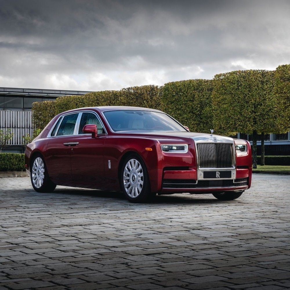 Rolls Royce collaborates with RED to debut a custom Phantom for charity (photo courtesy Sothebys)