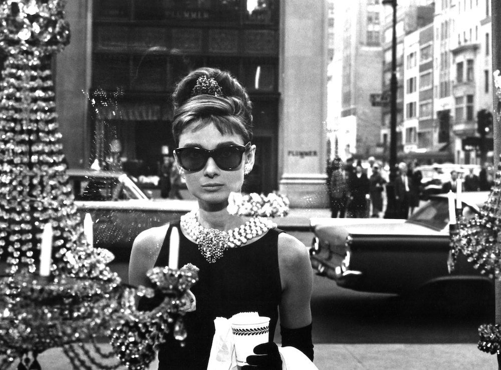 Audrey Hepburn in 'Breakfast at Tiffany's' in 1961 in New York City, New York. (Photo by Donaldson Collection/Michael Ochs Archives/Getty Images)
