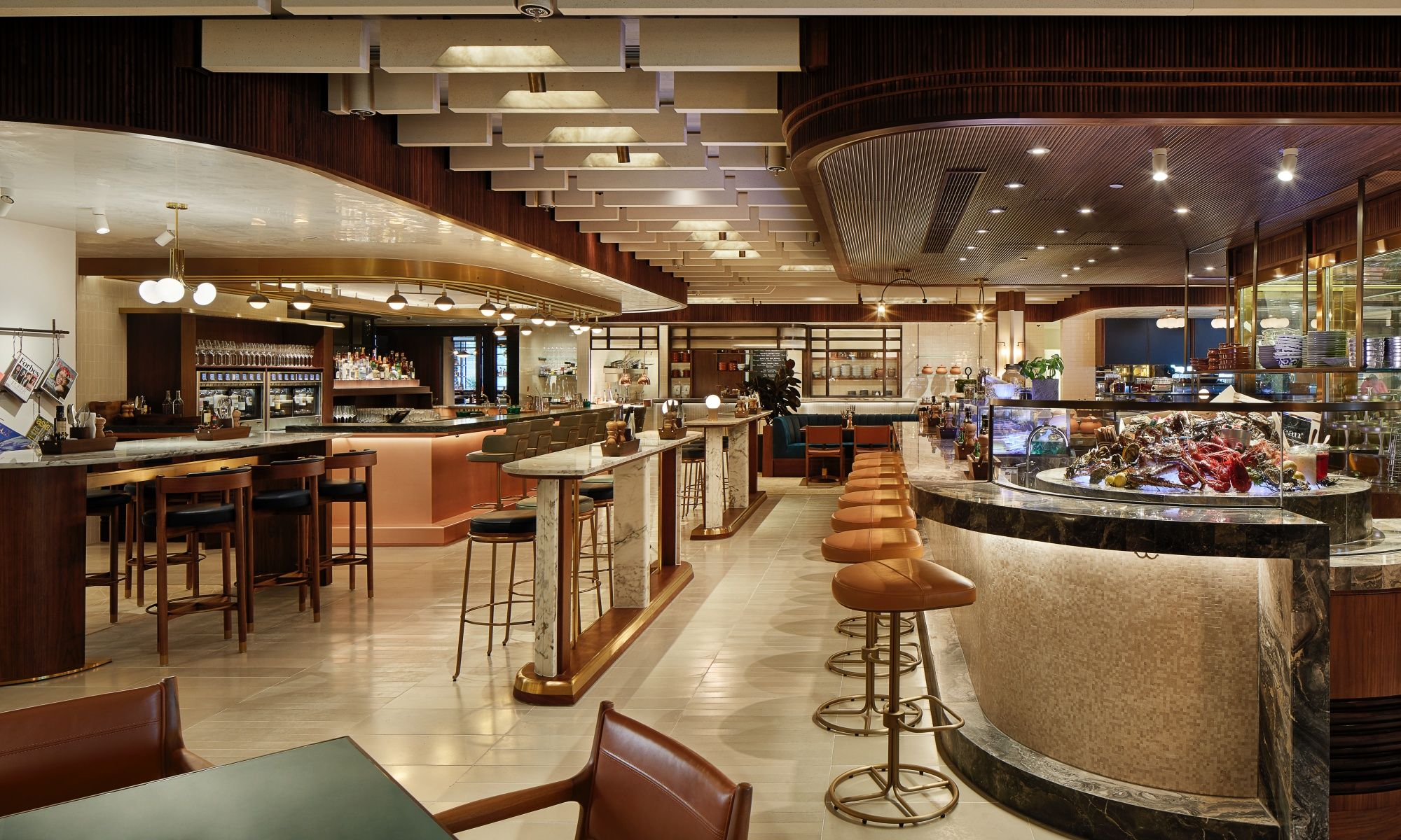 Restaurant Review: Will A Food Hall Concept Work In A Luxury Hotel? Bayfare Social Has The Answer