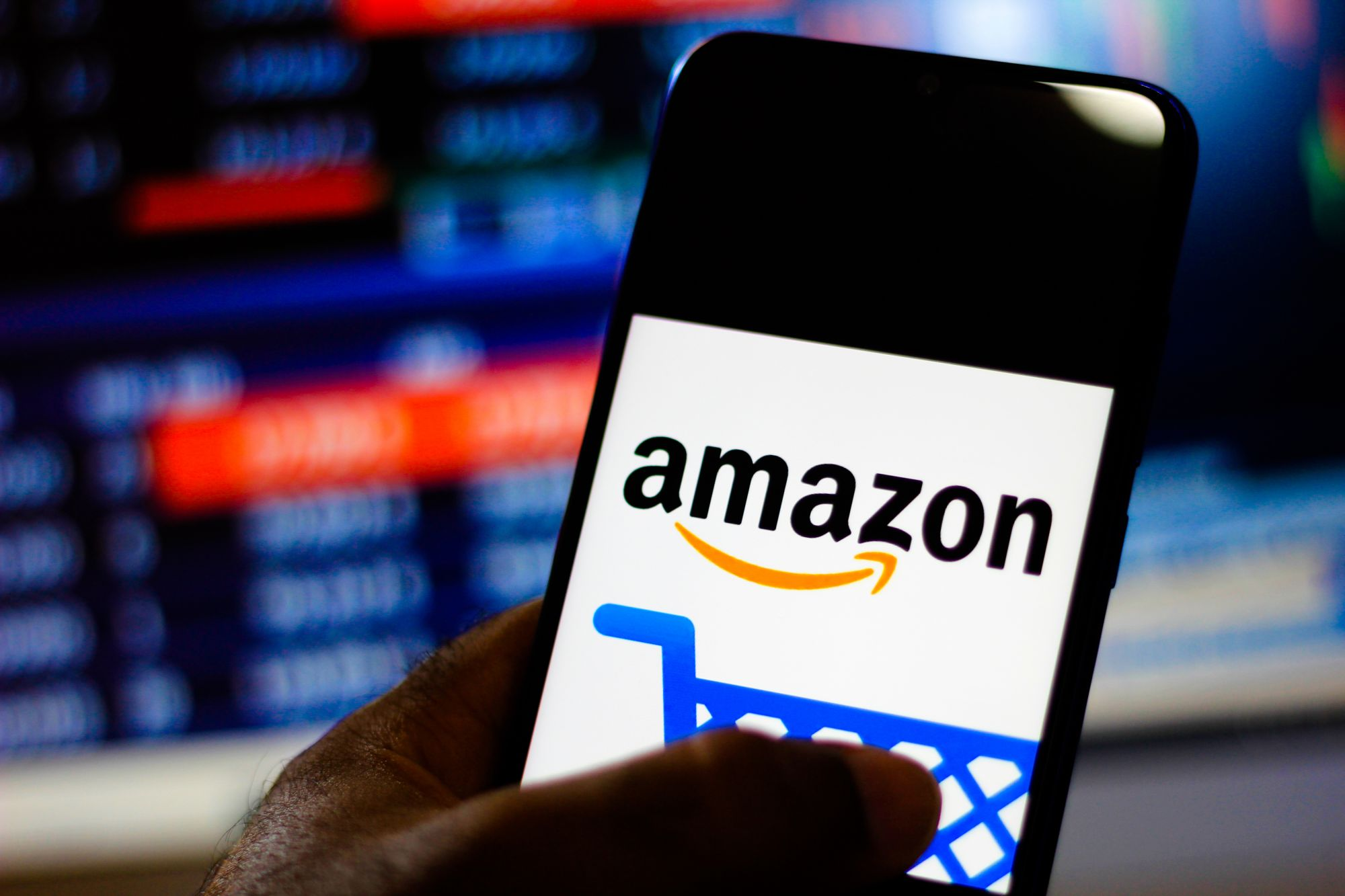BRAZIL - 2019/12/30: In this photo illustration the Amazon Shopping logo is seen displayed on a smartphone. (Photo Illustration by Rafael Henrique/SOPA Images/LightRocket via Getty Images)