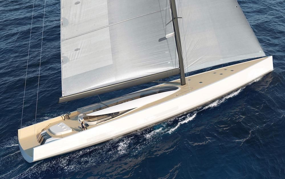 Philippe Briand reveals designs for an emissions-free wind-powered superyacht (photo: courtesy)