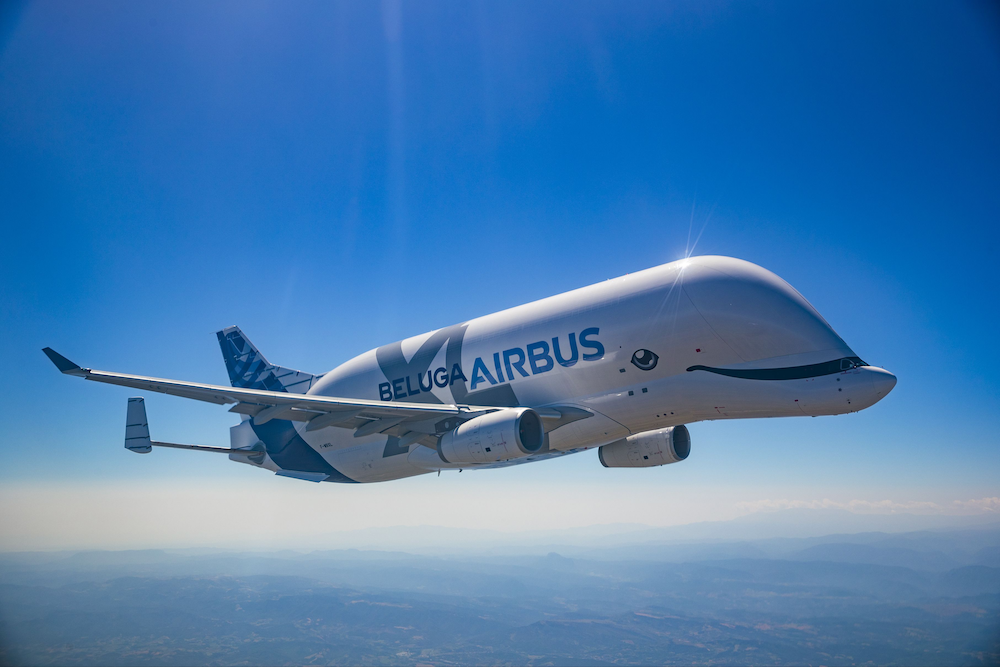The new Airbus BelugaXL looks just like a... Beluga whale (photo: S. Ramadier for Airbus, courtesy of PR)