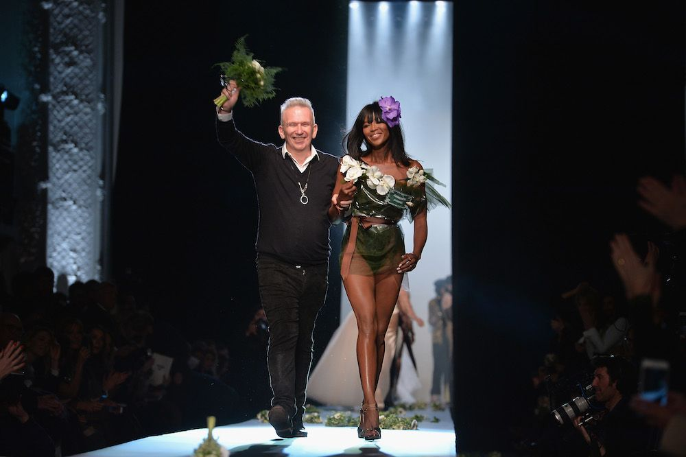 Jean-Paul Gaultier at his show on January 28, 2015 in Paris, France. The designer will retire this year. (photo: Getty)
