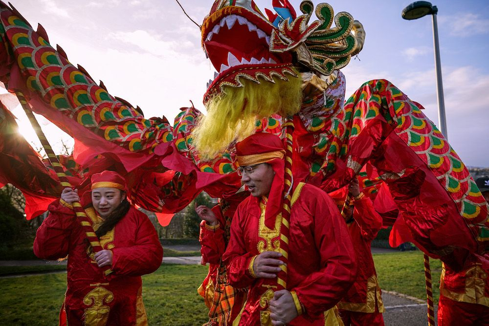 The Chinese New Year Festival on Calton Hill on January 8, 2020 in Edinburgh,Scotland. (Photo by Jeff J Mitchell/Getty Images)