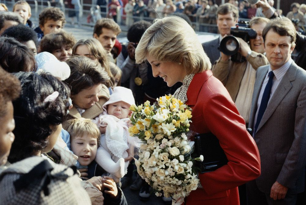 Princess Diana during a visit to a community centre in Brixton, October 1983. (Photo by Princess Diana Archive/Getty Images)