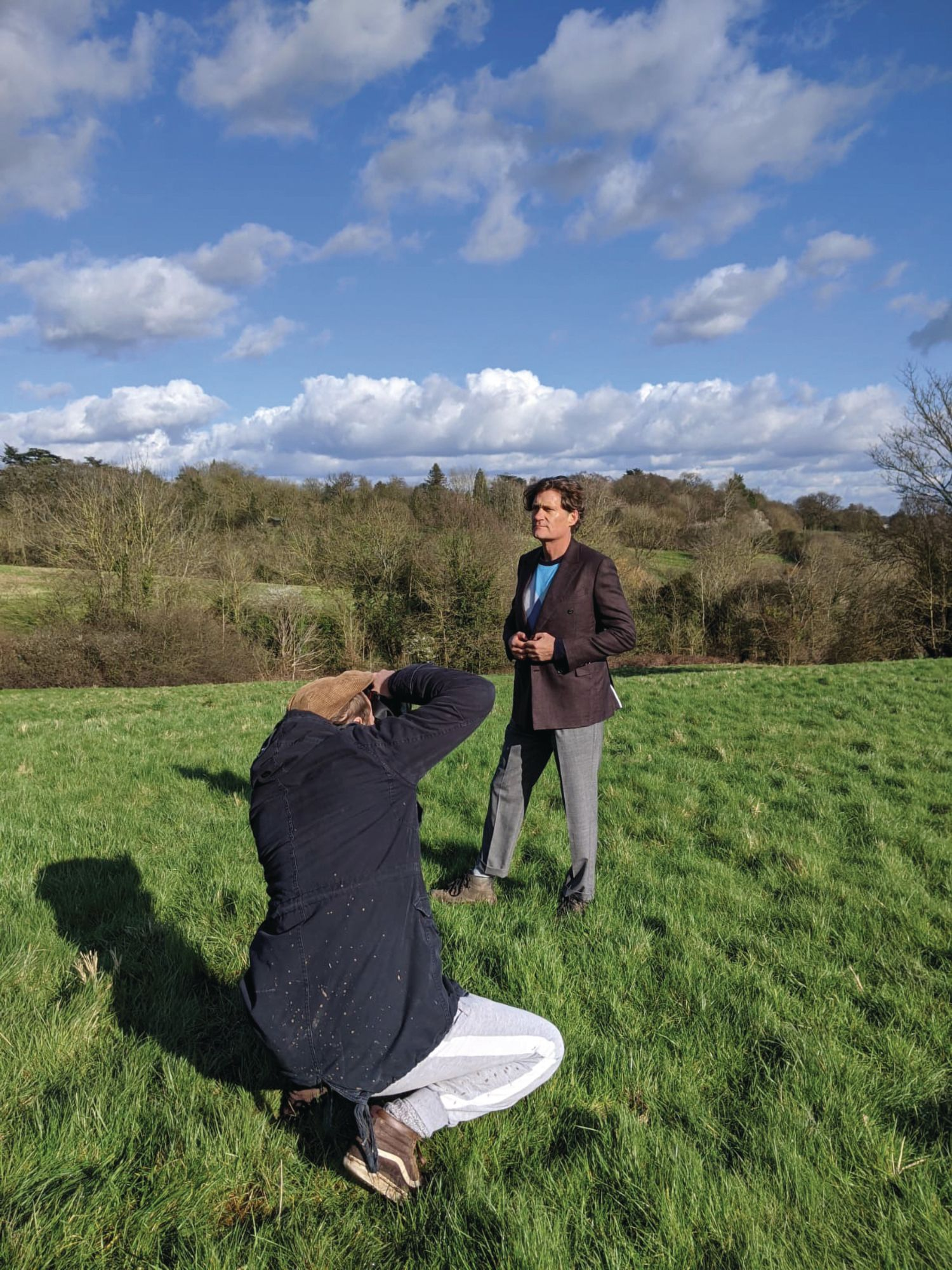Behind the Scenes: Craig Leeson's Cover Shoot Wasn't All Blue Skies