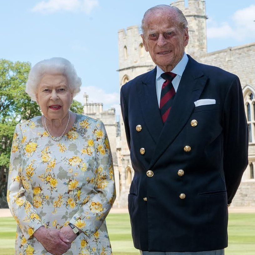 Prince Philip Poses With Queen Elizabeth In A New Royal Portrait To Mark His 99th Birthday