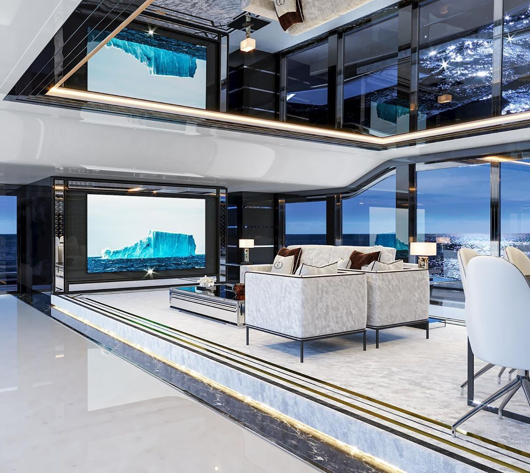 An Ultra-Luxe Superyacht With Its Very Own Cinema
