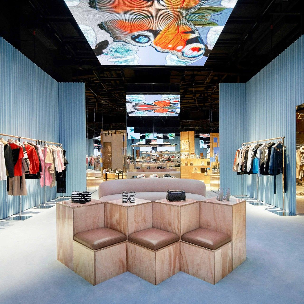 "The Shenzhen Burberry is the brand's first ""social retail"" store, and is powered by Tencent (Photo: Courtesy Burberry)"