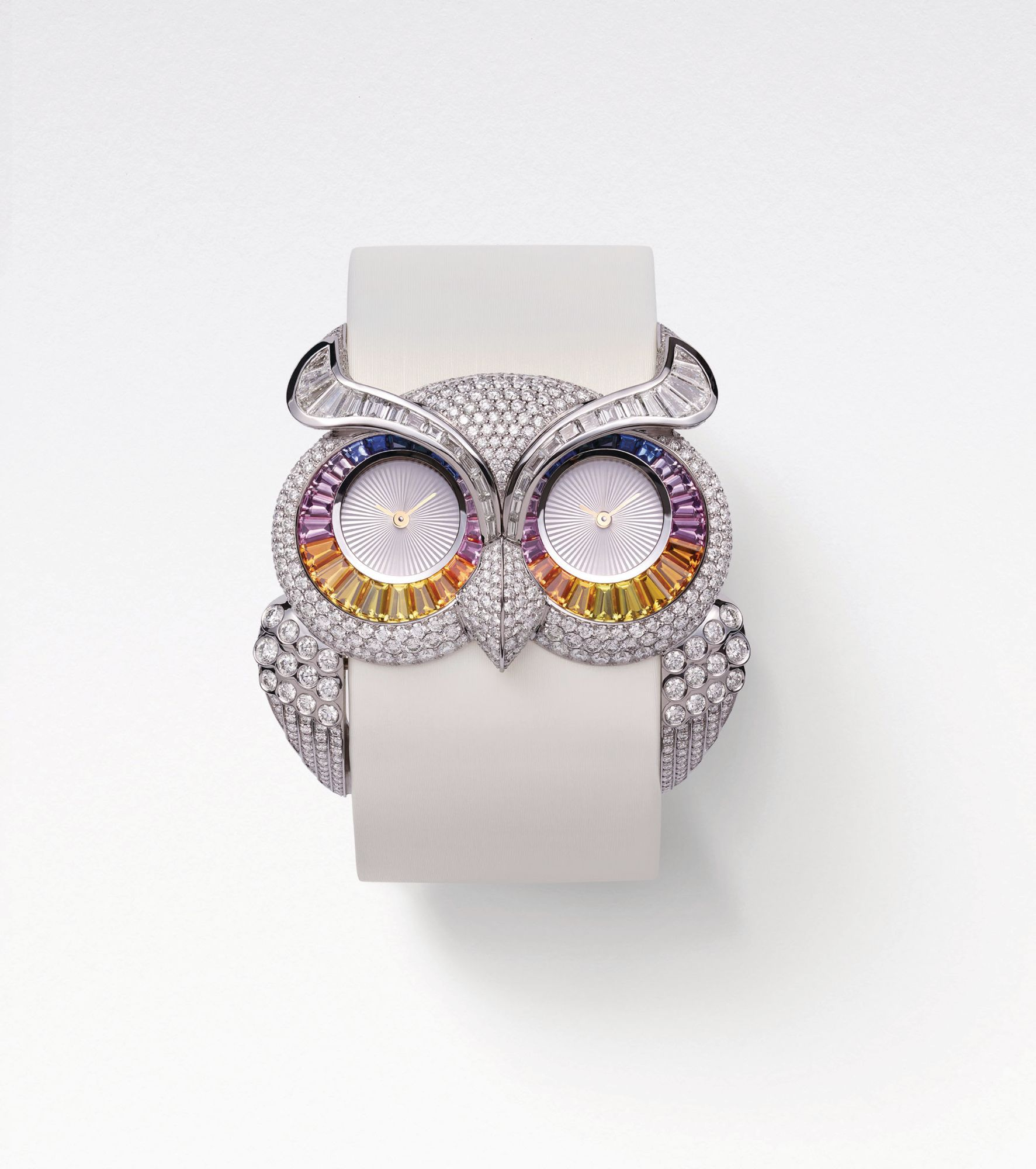Owl watch in white gold set with sapphires and diamonds by Chopard (Image: Chopard)