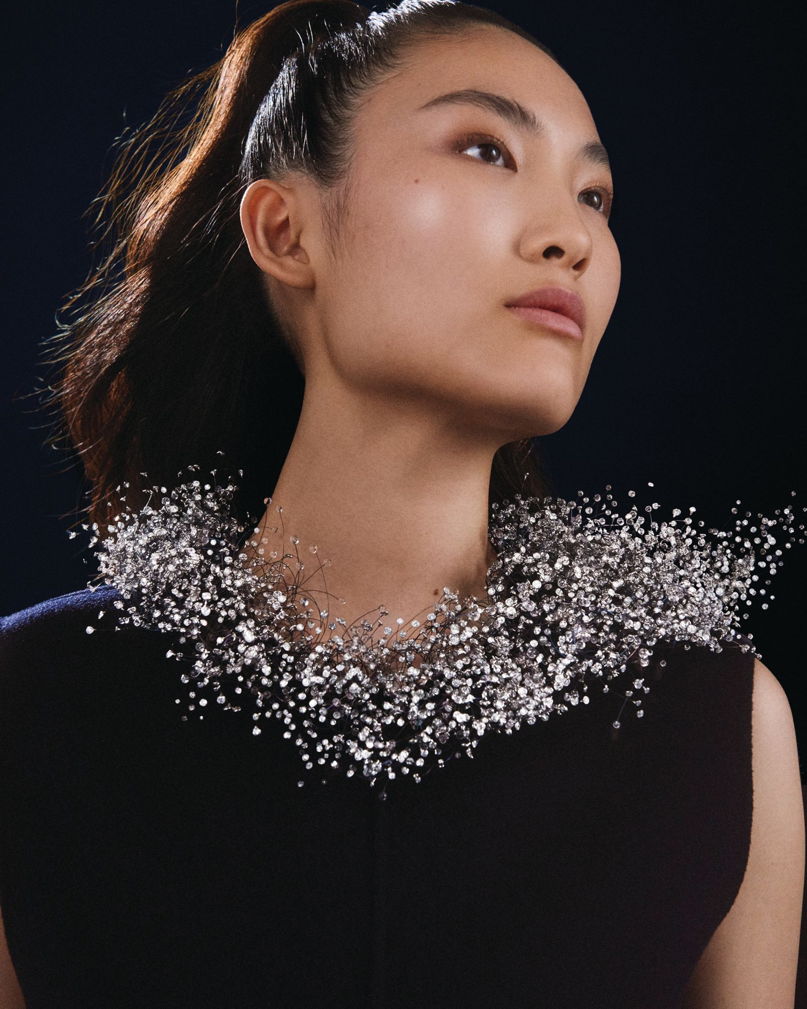 Nuage en Apesanteur necklace in titanium and white gold set with glass beads and diamonds by Boucheron (Image: Boucheron)