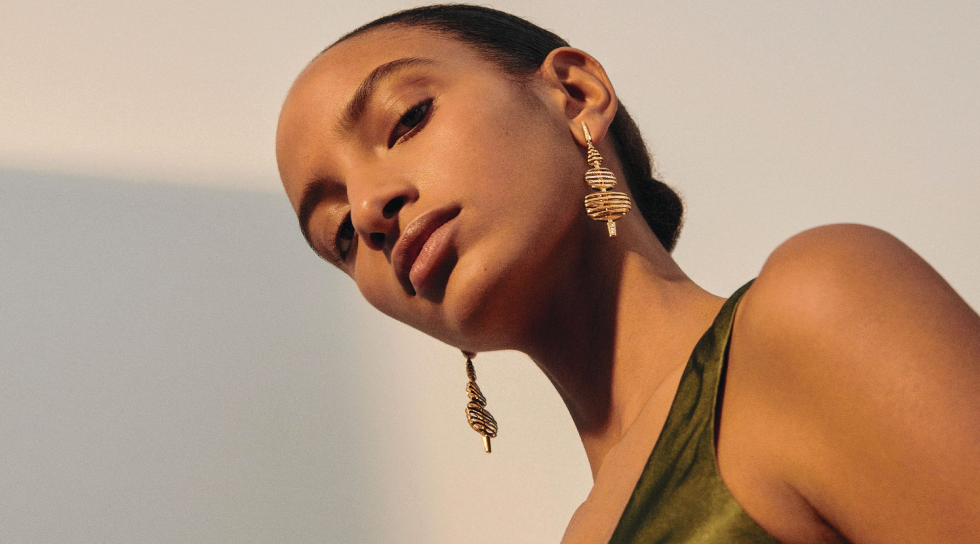 Garden Party earrings in yellow gold set with diamonds by Annoushka (Image: Annoushka)