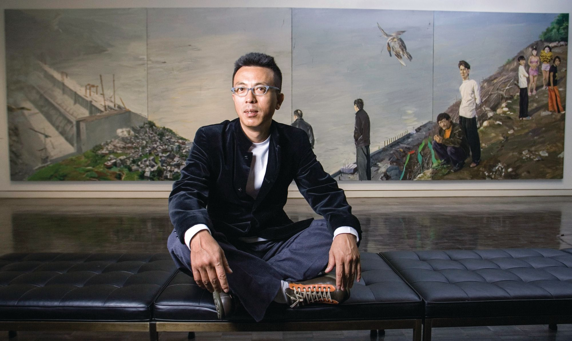 What Chinese Artist Liu Xiaodong's Paintings Reveal About Migration And Community