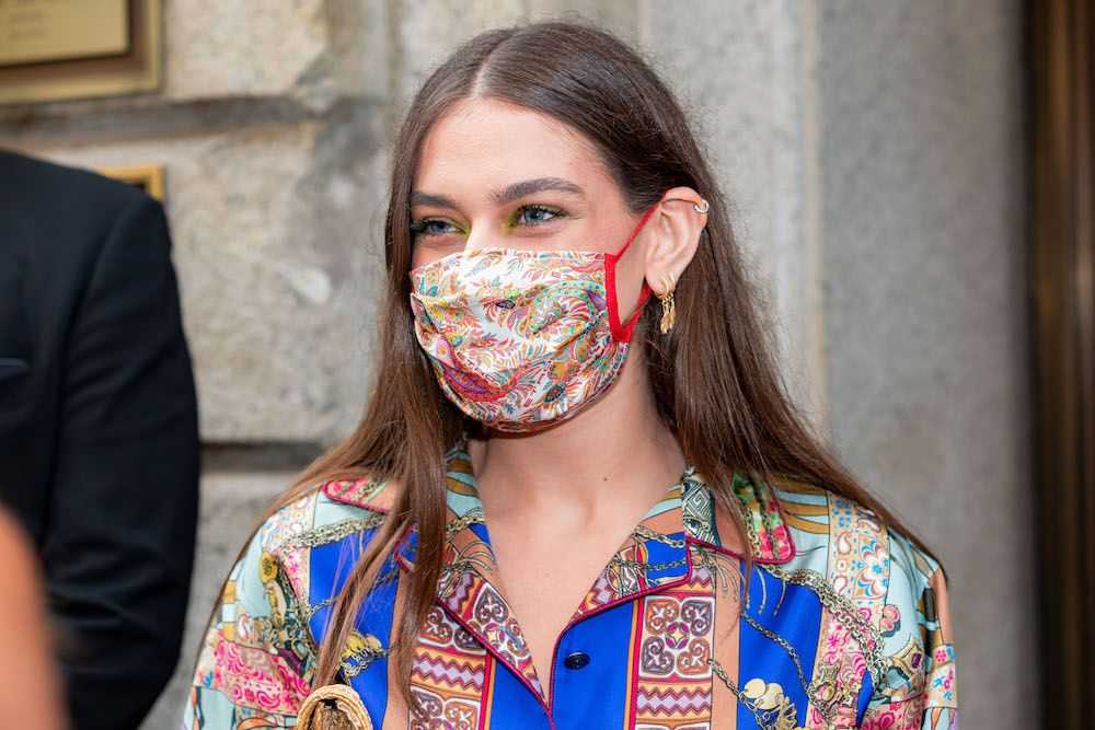 Gaia Gozzi attends the Etro fashion show during Milan Digital Fashion Week on July 15, 2020 in Milan, Italy. (Photo by Alessandro Bremec/NurPhoto)