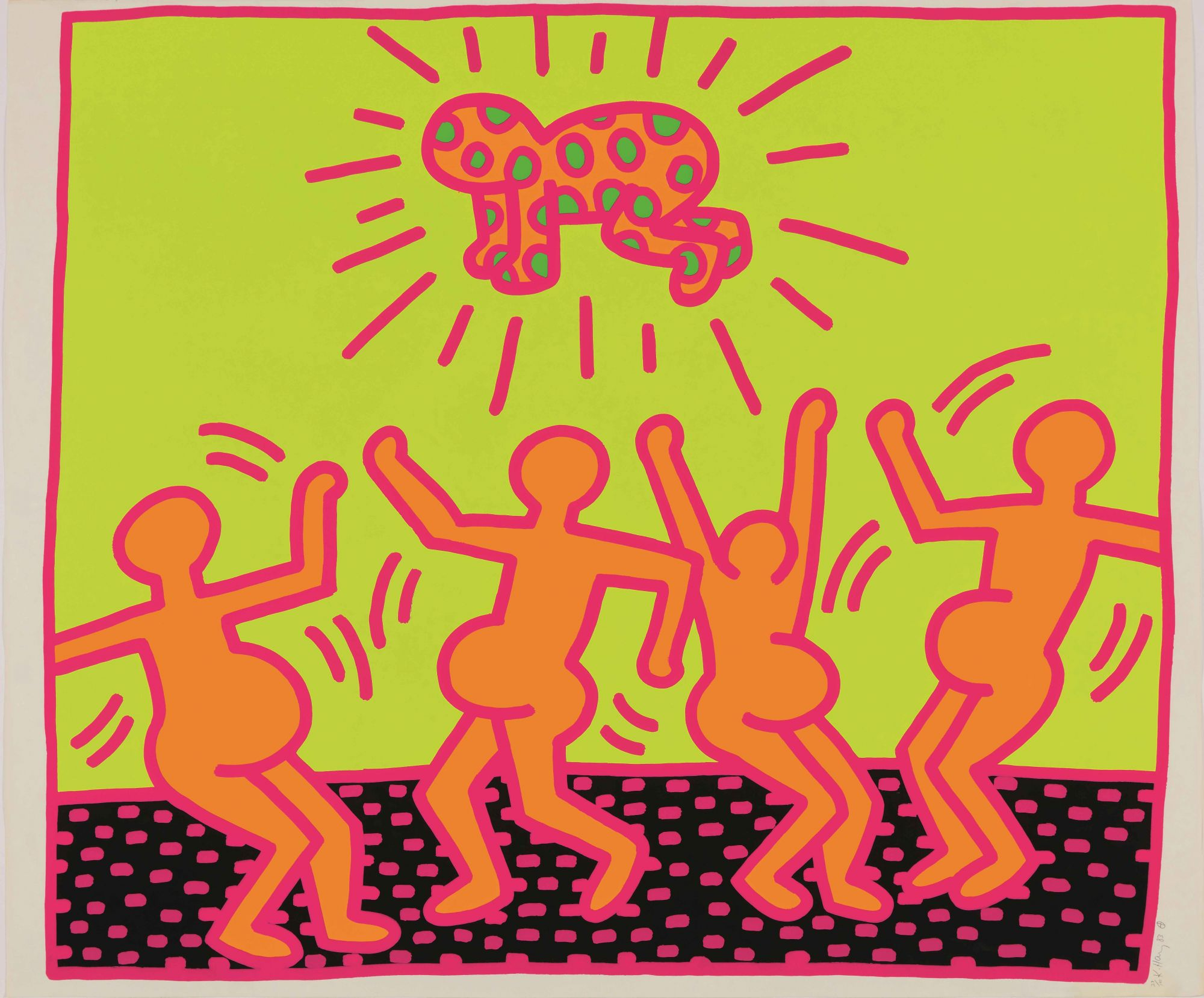 Keith Haring, a screenprint from The Fertility Suite (1983). (Photo: Courtesy of Phillips)
