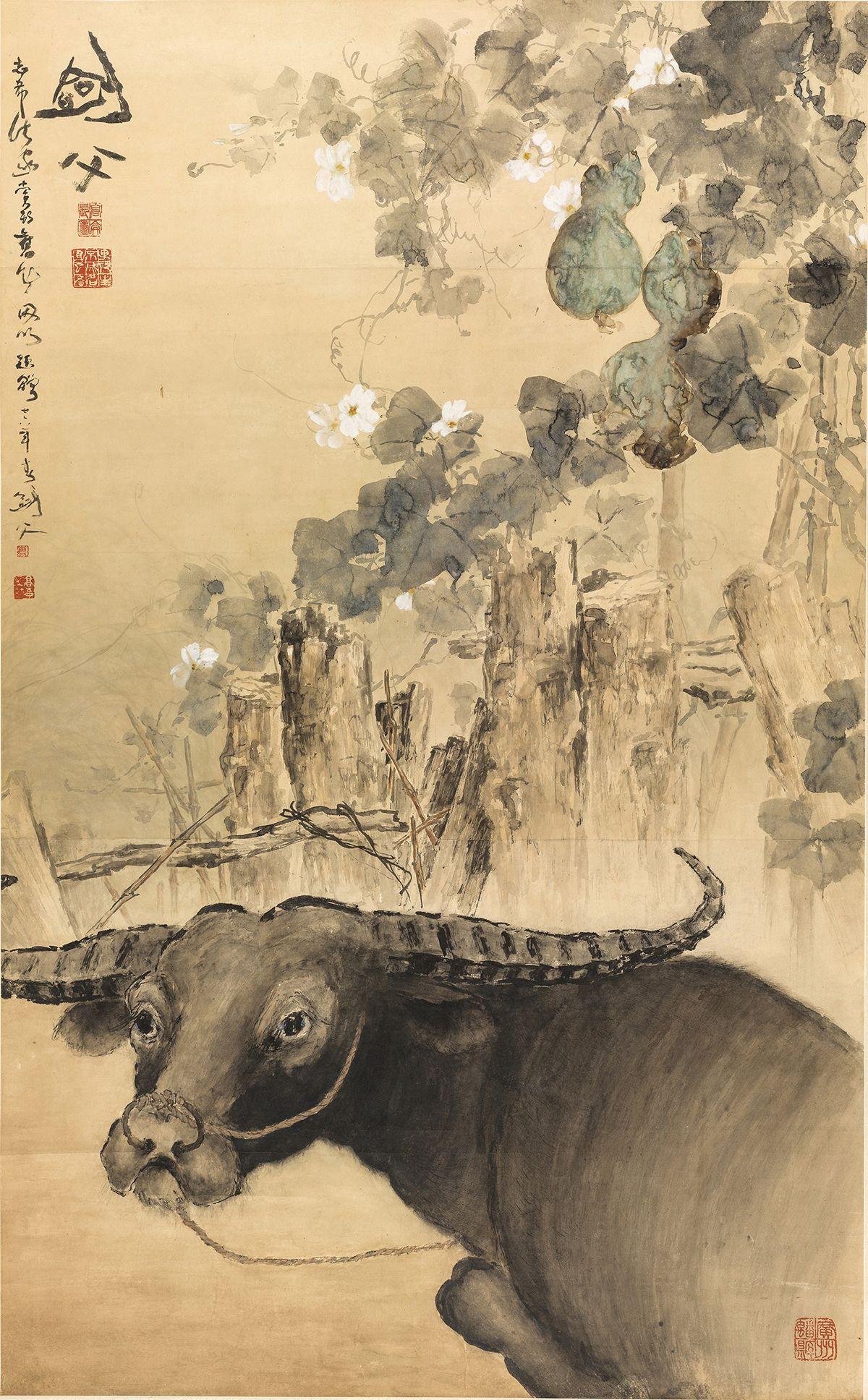 Buffalo by Gao Jianfu