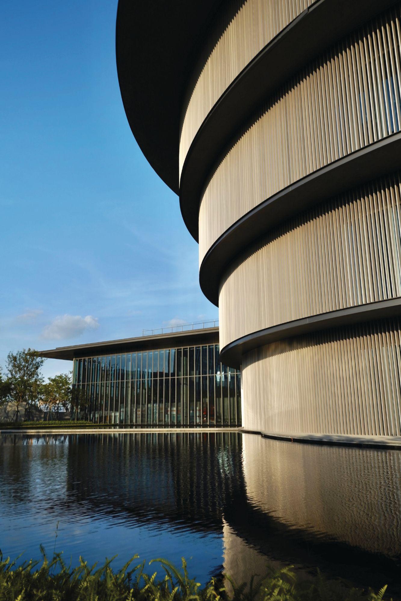 The distinctive building was designed by celebrated Japanese architect Tadao Ando (Photo: Courtesy of HEM)