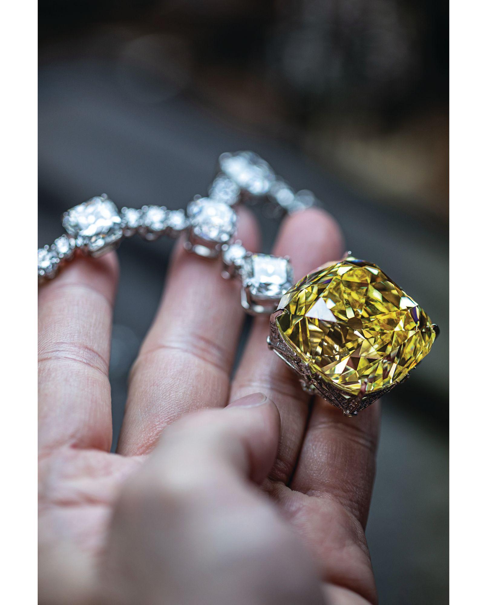 128.54克拉Tiffany傳奇黃鑽項鍊。(Photo: Courtesy of Tiffany & Co.)