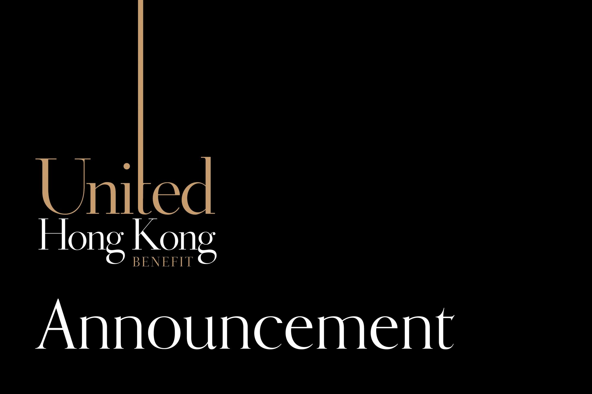 We Have An Important Announcement About The United Hong Kong Benefit