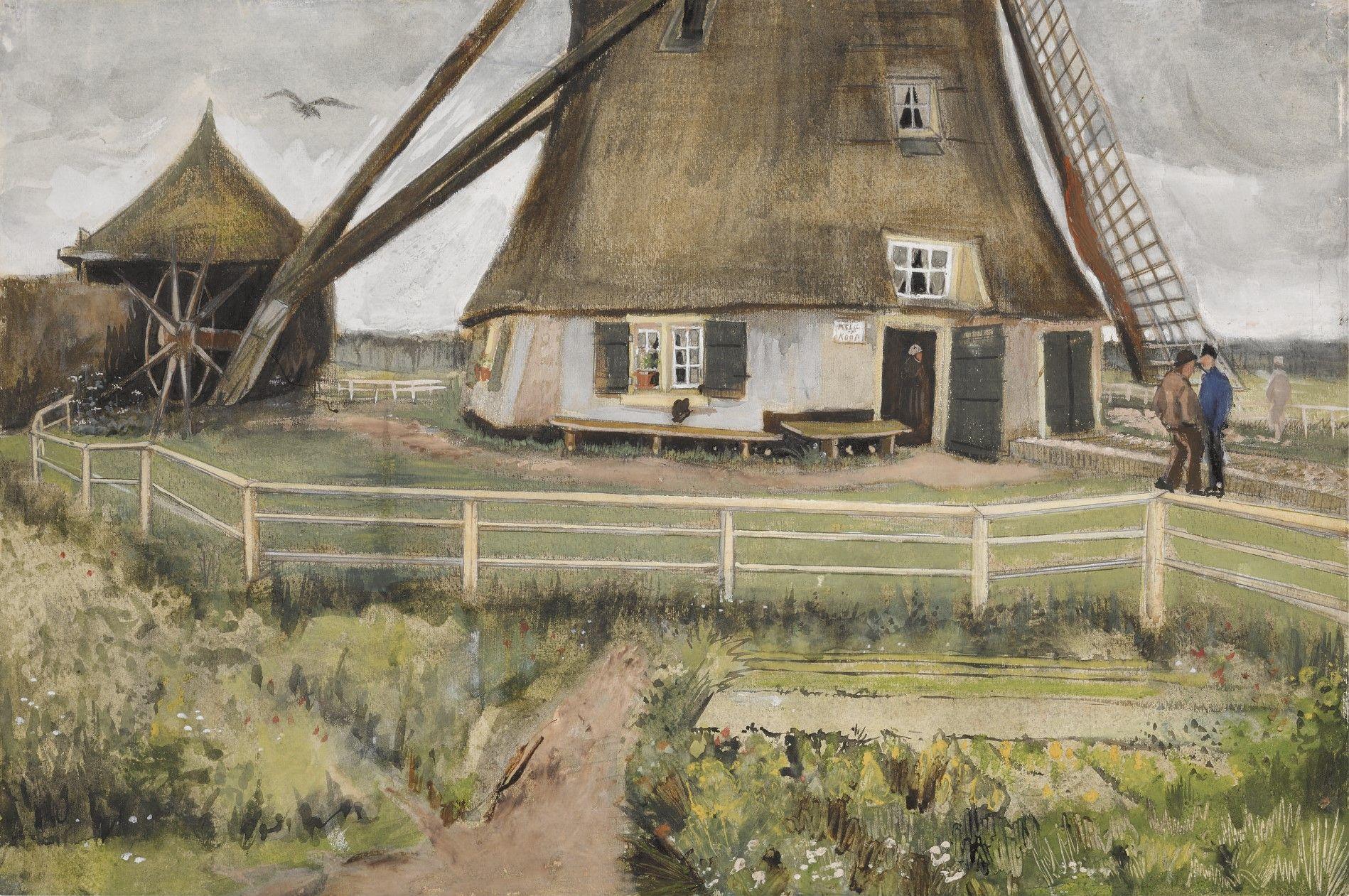 """The Laakmolen Near The Hague"" by Vincent Van Gogh"